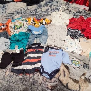 Newborn bundle of clothes selling together